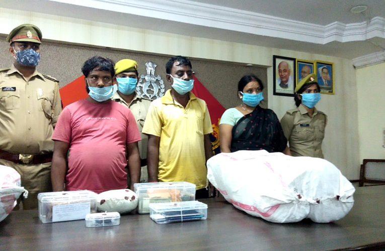 शहर के दक्षिण इलाके में  32 किलो गांजा के साथ सात तस्कर गिरफ्तार