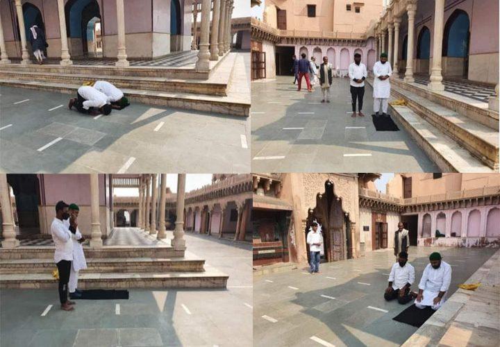 मथुरा: नंदमहल मंदिर में धोखा देकर पढ़ी नमाज, तस्वीरे वायरल होने पर मुकदमा दर्ज