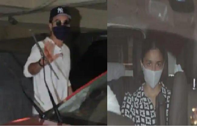 Entertainment : डबिंग स्टूडियो के बाहर स्पॉट हुए रणबीर कपूर और आलिया भट्ट