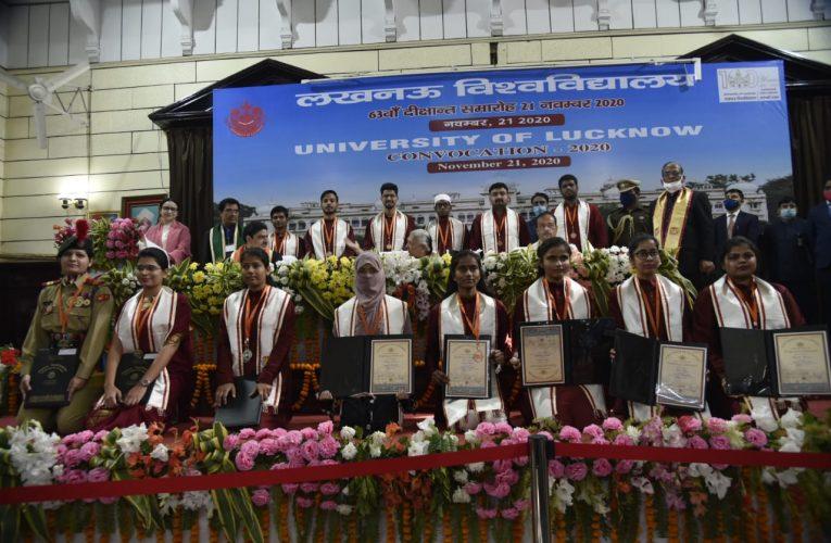 लखनऊ विवि के 63वें दीक्षांत समारोह में राज्यपाल ने उच्च शिक्षण संस्थानों के दायित्वों का कराया स्मरण