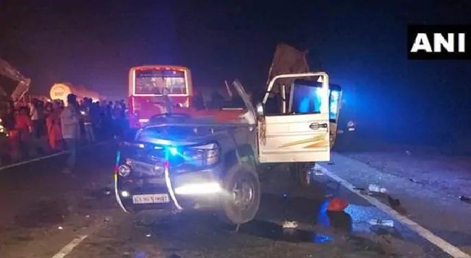 भीषण सड़क हादसे में पांच की मौत, छह घायल