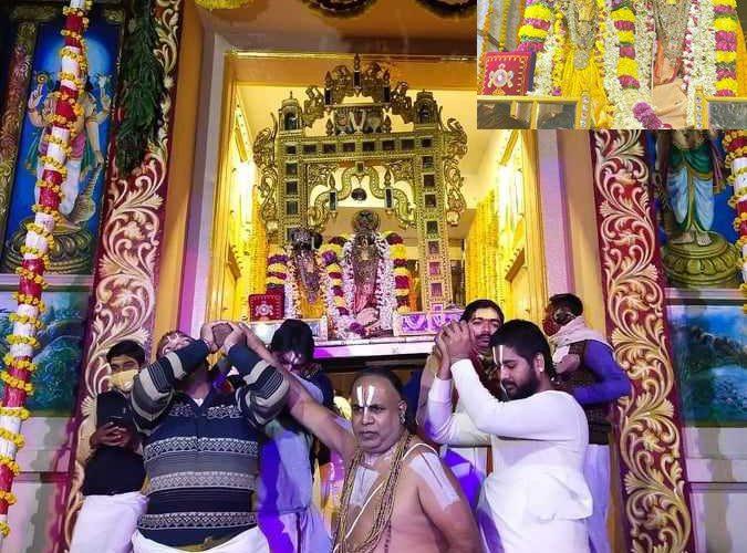UP News : वृंदावन रंगनाथ मंदिर : खुला बैकुण्ठ द्वार, गोदारंगमन्नार का हुआ अनुसरण