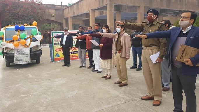 Shravasti News:राष्ट्रीय सड़क सुरक्षा माह का हुआ शुभारम्भ