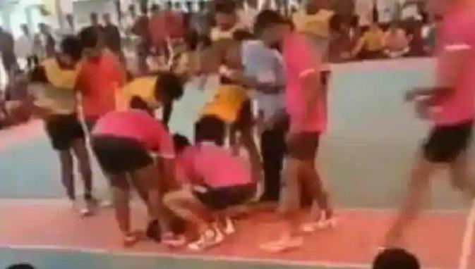 कबड्डी मैच के दौरान खिलाड़ी की मौत, वीडियो में कैद हुई दर्दनाक घटना