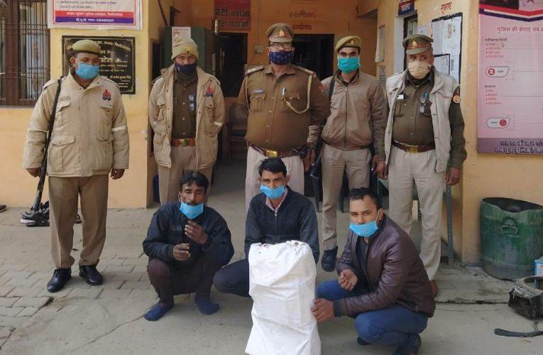 UP News : आटो पार्ट्स की दुकान में हुई चोरी का खुलासा, तीन शातिर चोर गिरफ्तार