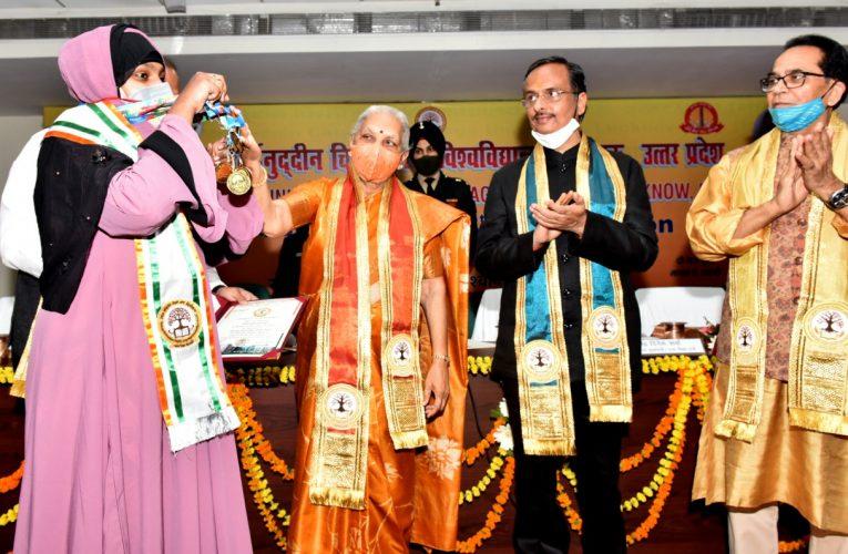 Lucknow  News : विद्यार्थी अपने साथ परिवार, समाज और राष्ट्र की प्रगति में दें सकारात्मक योगदान: आनंदीबेन
