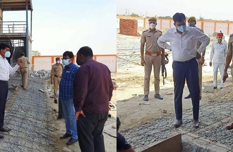 शाहजहांपुर : डीएम और एसपी ने ककरा में निर्माणाधीन इलेक्ट्रिक बस चार्जिंग स्टेशन का किया निरीक्षण