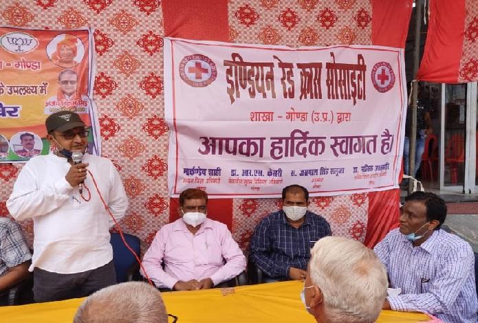 Gonda News:काली भवानी मंदिर में रक्तदान शिविर आयोजित