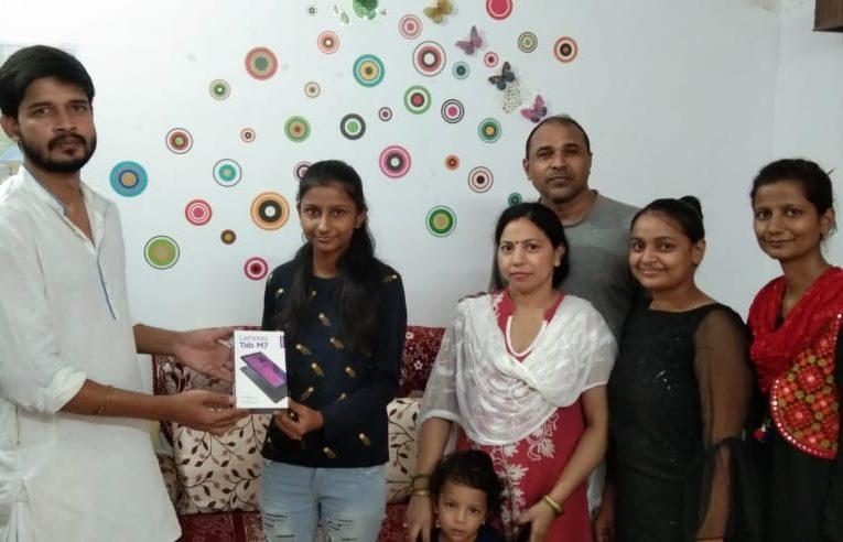 Gonda – वर्तिका दीक्षित को किया गया सम्मानित