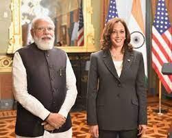 प्रधानमंत्री मोदी ने उपराष्ट्रपति कमला हैरिस को दिया भारत आने का न्योता